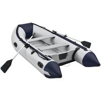 ArtSport Schlauchboot Paddelboot grau mit Aluboden und zwei Sitzbänken & 3,20m