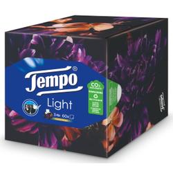 Tempo Light Taschentuchbox, Waschmaschinenfeste Papiertaschentücher aus 100% Tempo Qualität, 1 Box = 60 Blatt, farbig sortiert