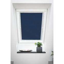Dachfenster Sonnenschutz Haftfix, ohne Bohren Rollos blau Gr. 59 x 91,5