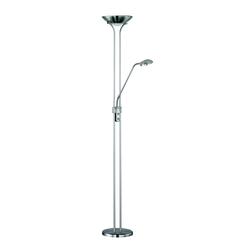 TRIO Leuchten,LED Stehlampe silberfarben Leselampen Lampen Leuchten