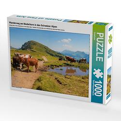 Wanderweg am Niederhorn in den Schweizer Alpen Lege-Größe 64 x 48 cm Foto-Puzzle Bild von SusaZoom Puzzle