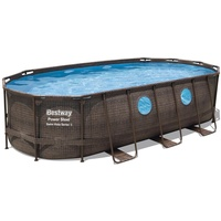 BESTWAY Power Steel Swim Vista Series Set 549 x 274 x 122 cm inkl. Filterpumpe oval