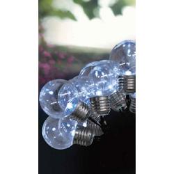 JOKA international LED Solarleuchte Solar Lichterkette mit 10 weißen Solarbirnen