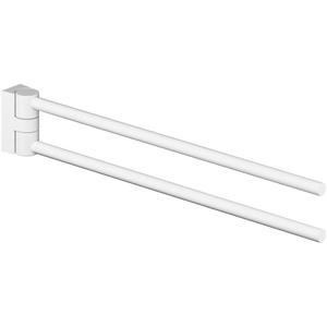 ErgoSystem A100 Handtuchhalter 2-fach 8223 - Alu Grau metallic + Anemonenweiß Aluminium