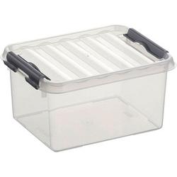 sunware Q-line Aufbewahrungsbox 2,0 l transparent 20,0 x 15,0 x 10,0 cm