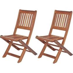 2x Kinder Gartenstuhl Gartenstühle Klappstuhl Klappstühle Holz Eukalyptus