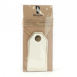 Geschenkanhänger Kraftpapier creme (4 Stück)