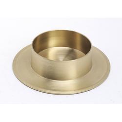 Taufkerzenhalter Messing Gold Matt für Ø 60 mm Taufkerzen