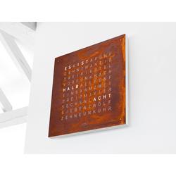 Wanduhr Qlocktwo Creator's Edition QLOCKTWO, Designer Biegert & Funk, 45x45x4.5 cm