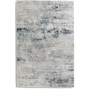 hochwertiger Designer Teppich Antea — Moderne Kurzflor Teppiche — Zimmerteppich im Vintage Design — (133x190cm, blau/Creme Vintage)