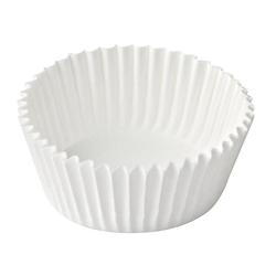 Pralinenkapseln Gebäckkapseln weiß, Ø 25 x 18 mm, 200 Stk.