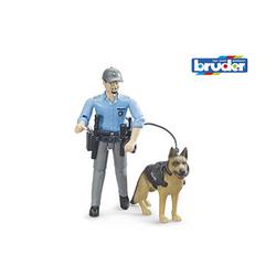 bruder bworld 62150 Polizist mit Hund Spielfiguren-Set