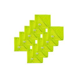 Kochblume Geschirrtuch Poliertuch 50 x 60 cm, (Spar-Set, 10-tlg), 280g/qm Qualtität grün