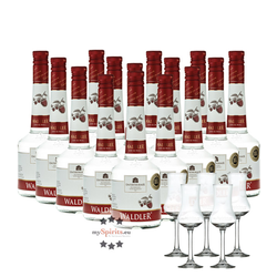 Unterthurner Waldler Original 15 Flaschen + 5 Schnapskelche