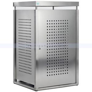 Müllbehälterschrank VAR Mülltonnenbox Edelstahl 240 L für 240 Liter Mülltonnen, abschließbar für optimalen Schutz