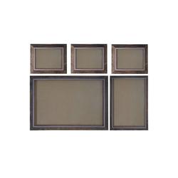 MCW Bilderrahmen Bilderrahmen Set H247, (Set), Für Quer- und Hochformat, Mit 2 mm Glasplatte, Mit Seidenband braun