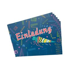 6 Einladungskarten für Schuleinführung Schulanfang Einschulung Schulbeginn Einladungen