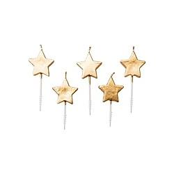 Kerzen Sterne  Gold
