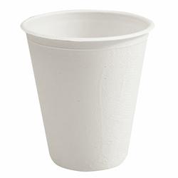 BIO Kaffeebecher Heißgetränkebecher 200ml aus Zuckerrohr kompostierbar, 50 Stk.