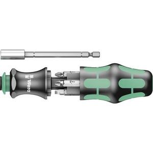 Wera Werkstatt Magazin-Schraubendreher Kraftform Kompakt 28 SB 1/4  (6.3 mm) DIN 3126, DIN ISO 1173