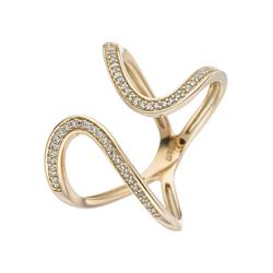 JOBO Diamantring, 585 Gold mit 55 Diamanten 60