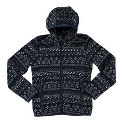 CAMPAGNOLO Outdoorjacke Campagnolo Strick-Jacke kuschelige Kinder Outdoor-Jacke mit Fleece-Futter Freizeit-Jacke Dunkelblau