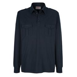 Roger Kent Poloshirt mit Schulterklappen blau 52