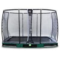 EXIT TOYS Elegant Premium Inground-Trampolin 244 x 427 cm inkl. Deluxe Sicherheitsnetz grün