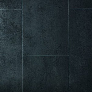 PVC Bodenbelag EXPOTOP Profi Vinylboden 2,00m x 6,00m Schwer Entflammbar Einfarbig Uni Grau PVC Boden Meterware Vinyl