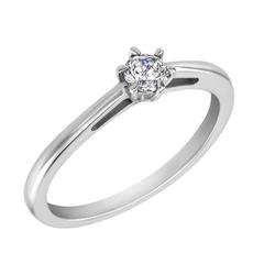 Verlobungsring mit Diamant im Rundschliff Rima