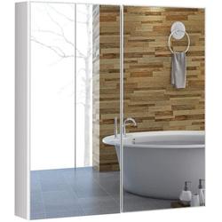 COSTWAY Spiegelschrank Wandschrank Badezimmerspiegelschrank Badezimmerspiegel Hängeschrank
