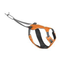 Ruffwear Omnijore? Joring System Zuggeschirr für Hunde, M, Brustgeschirr 69-81 cm, Orange Poppy