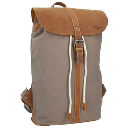 Gusti Leder Cityrucksack Paula L, Collegerucksack Unirucksack Daypack Schultasche Laptoprucksack braun