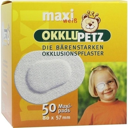 OKKLUPETZ Okklusionspflaster maxi weiß 50 St