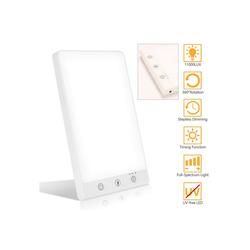 Einfeben Tageslichtlampe 3x Helligkeitsstufen, Timer mit Memoryfunktion und UV-freie LED Lampe Lichttherapie 11000 LUX, simuliertes Tageslicht, Timing