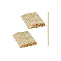 relaxdays Schaschlikspieße 500 x Schaschlikspieße Bambus