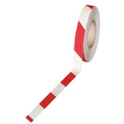 Antirutschband - feinkorn, 50 mm x 18,3 m, weiß-rot