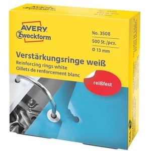 Verstärkungsringe »3510 / 3508« gegen Ausreißen weiß, Avery Zweckform