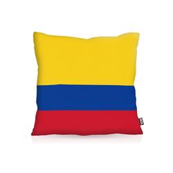 Kissenbezug, VOID, Kolumbien Colombia Flagge Fahne Fan WM Fussball 60 cm x 60 cm