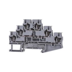 Dreistock-Klemme grau ST 2,5-PE/L/N