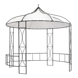 vidaXL Pavillon vidaXL Pavillon 300 x 290 cm Weiß Rund
