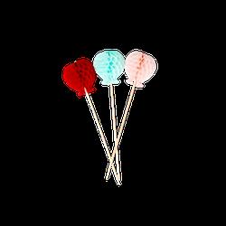 Rice Papierdeko 6er-Pack Ballons