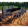 VCM Gartengarnitur 7-tlg. Tisch 190 x 90 cm grau