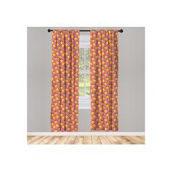 Gardine Vorhang für Wohnzimmer Schlafzimmer Dekor, Abakuhaus, Zitrone Zitronen mit Blättern Tupfen bunt 150 cm x 245 cm