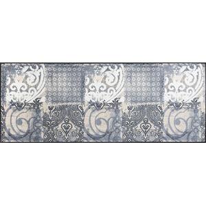 wash+dry Fußmatte Arabesque, 75x190 cm, Innen, waschbar, Grau