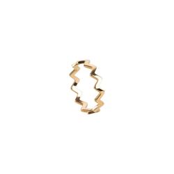 TOSH M Ring in gezacktem Desing