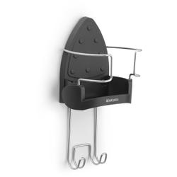 Brabantia Bügeleisenwandhalterung, Hitzebeständige Bügeleisenhalterung für die perfekte Ordnung, Farbe: Cool Grey