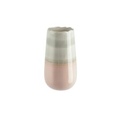 Vase ¦ rosa/pink ¦ Steingut Ø: 14