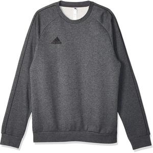 adidas Herren CORE18 SW TOP Sweatshirt, Dark Grey Heather/Black, S