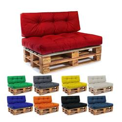 Easysitz Sitzkissen Palettenkissen Set, 120 x 80 cm für Europaletten rot